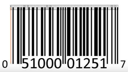 1 barcode numbers