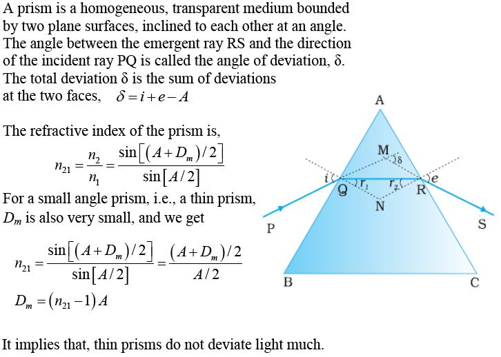 CBSE Class 12th Physics Notes: Ray Optics & Optical Instrument (Part