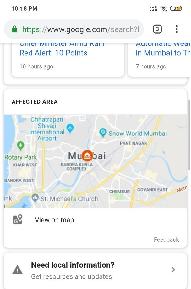 How to report road closure on Google Map: Step 1