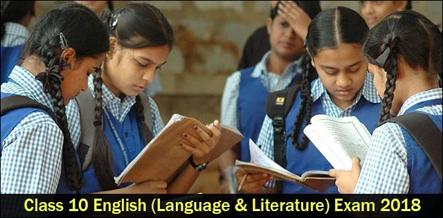 CBSE Class 10 English (Language and Literature) Question Paper 2018
