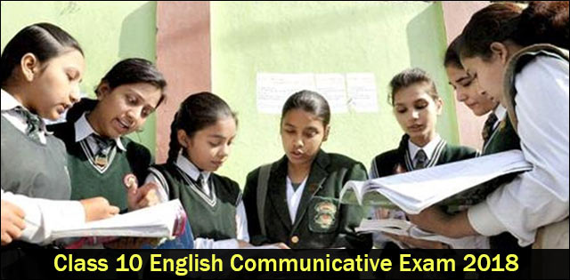 CBSE Class 10 English Communicative Question Paper 2018