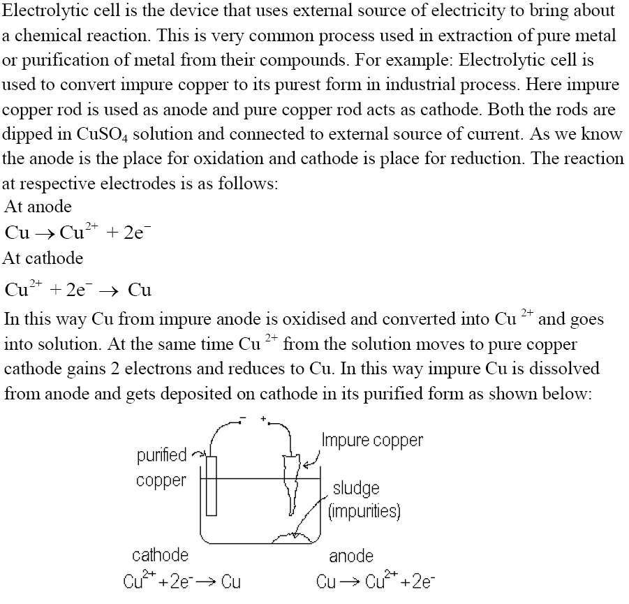 CBSE Class 12th Chemistry Notes: Electrochemistry (Part