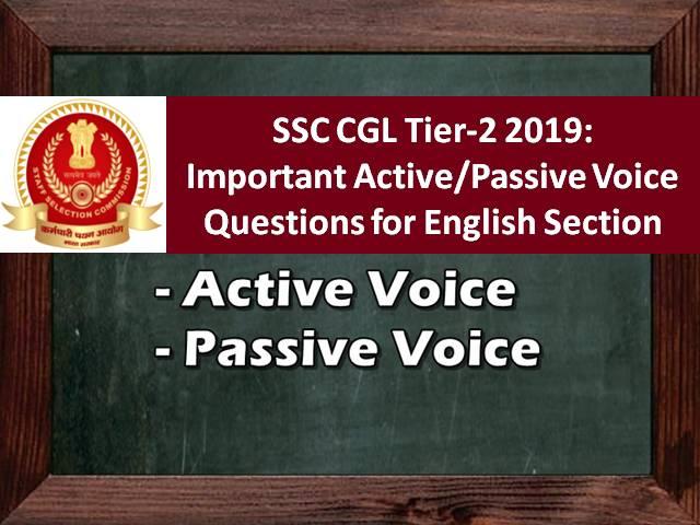 SSC CGL 2019 Tier-2: Important Active/Passive Voice