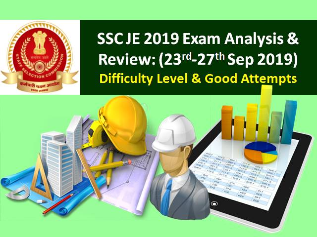 SSC JE 2019 Paper-1 Exam Analysis & Review