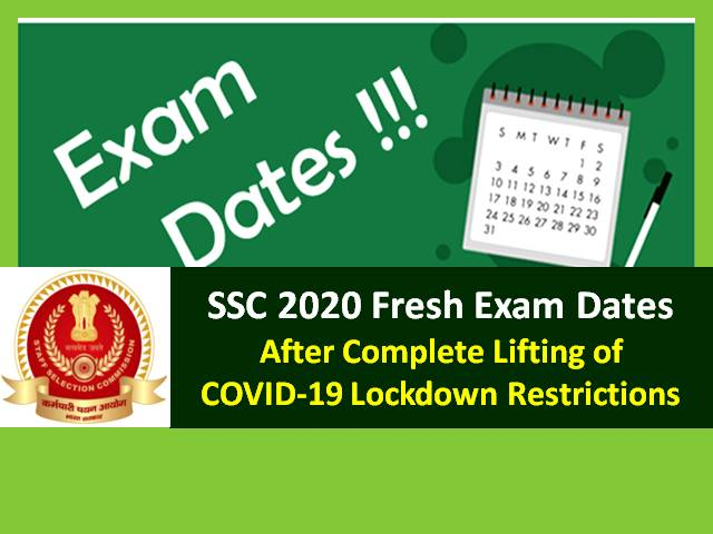 SSC Exam 2020 New Dates after June 1 Meeting on COVID-19 Situation: Check SSC CHSL 2020, SSC JE 2020 & Other SSC 2020 Exam Dates