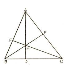 altitudes and orthocentre of a triangle