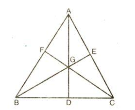 madians and centroid of a triangle