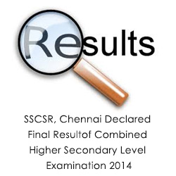 SSCSR Chennai Declared Final Result CHSL