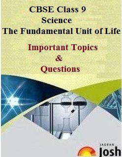 class 9 science, cbse class 9, class 9 science important questions, Fundamental Unit of Life