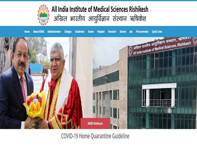 AIIMS Rishikesh Professor, Assistant Professor and Other Posts 2020