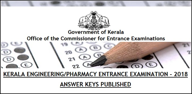 KEAM 2018 Answer Key