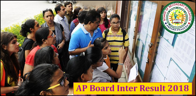 AP Inter 1st Year Results 2018, AP Intermediate 2nd Year Results 2018