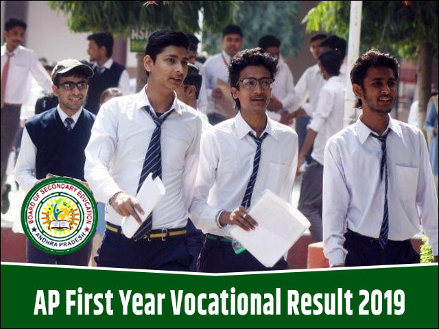 AP Inter 1st Year Vocational Result 2019, Andhra Pradesh