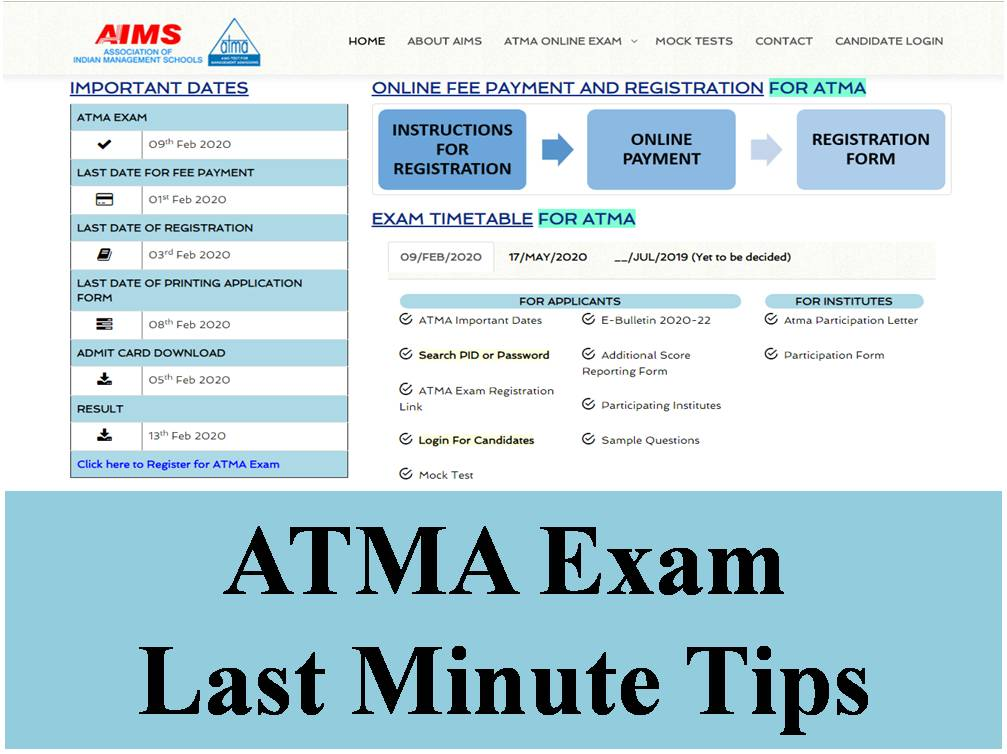 ATMA Exam Last Minute Tips