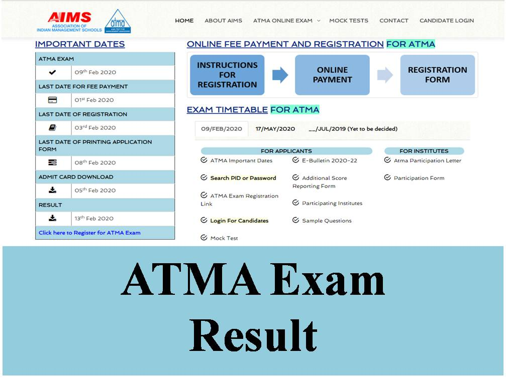 ATMA Exam Result