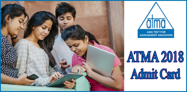 ATMA 2018 Admit Card To Be Released Today