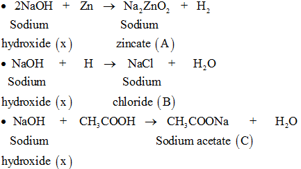 reacions of sodium hydroxide