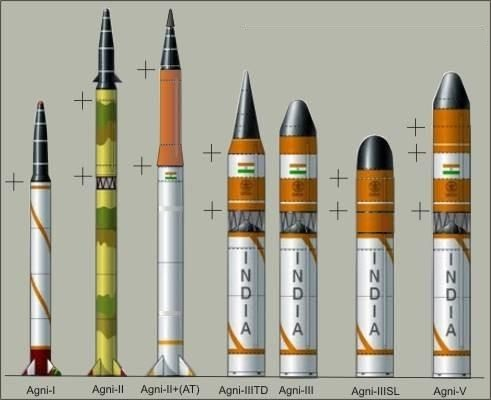 List of missiles of India