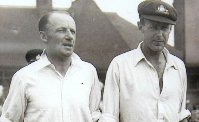 Arthur Morris and Don Bradman