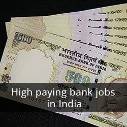 High paying bank jobs in India