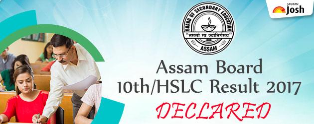 Assam HSLC Result 2017 today