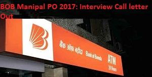 BOB PO Interview Call letter