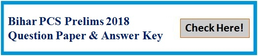 BPSC 2018 Answer Key