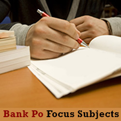 On which subject should I focus for the bank PO preparation