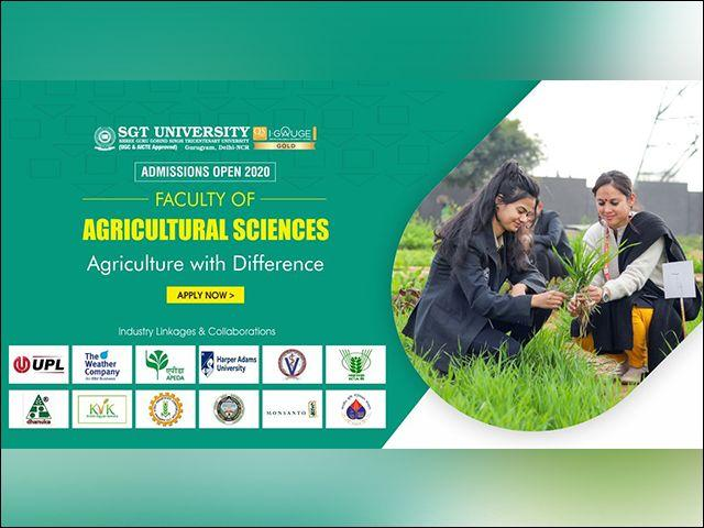 Become a Professional Agriculturist with SGT University