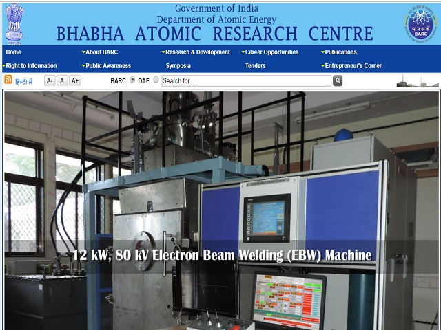 Bhabha Atomic Research Centre (BARC) Recruitment 2019