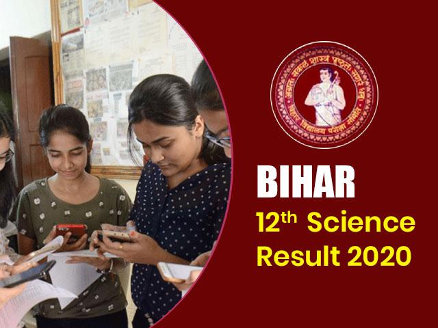 Bihar Board 12th Science Result 2020