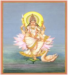 Birth of Goddess Saraswati