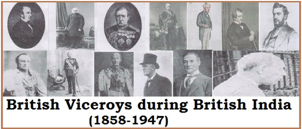List of British Viceroys during British India