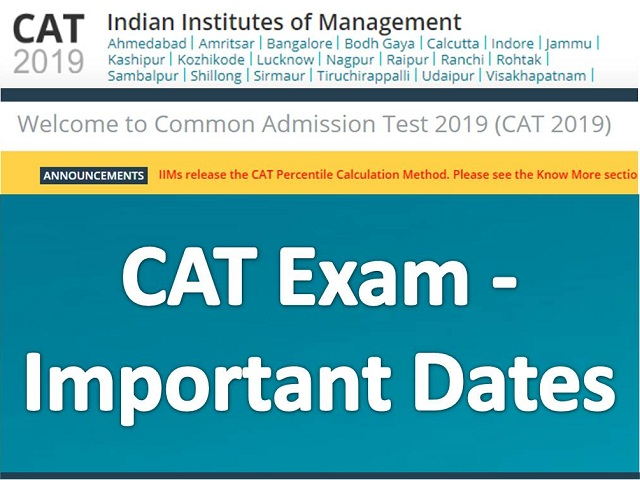 CAT 2018 Important Dates Announced