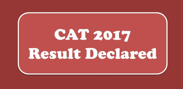 CAT Results 2017 Declared