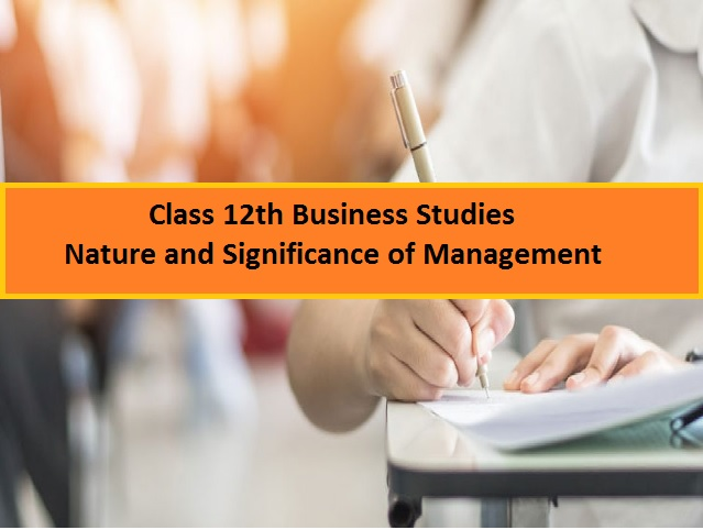 CBSE Class 12 Business Studies