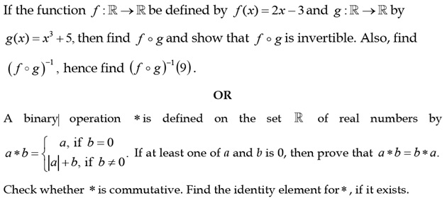 CBSE 12th Maths Sample Paper: Question number 24