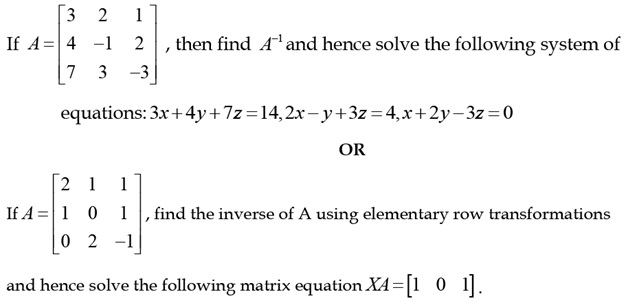 CBSE 12th Maths Sample Paper: Question number 25
