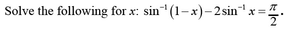 Question Based on Inverse Trigonometric Function
