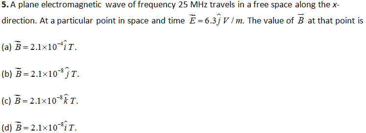 CBSE Class 12 Physics Board Exam Important MCQ Chapter 8 Electromagnetic Waves