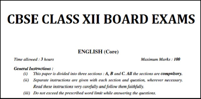 Important Topics For Writing Skill Section Of Cbse Class 12 English