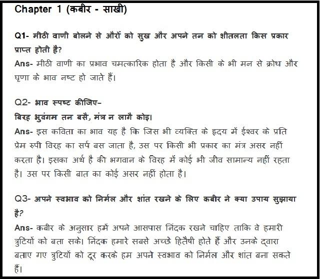 CBSE Hindi B Sparsh Chapter