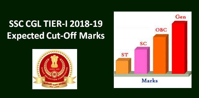SSC CGL Tier-1 Expected Cut-Off Marks for 2018-19 Exam