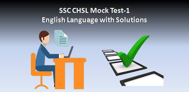 SSC CHSL Mock Test-1 English Language with Answers