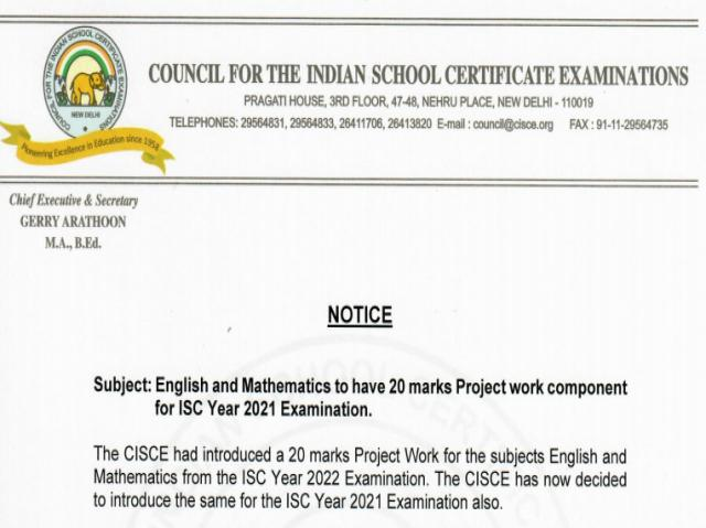 CISCE project work for class 12 students