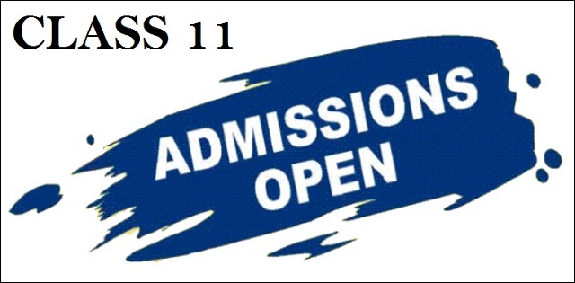 School Admissions 2018 for Class 11