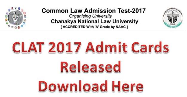 CLAT 2017 exam admit card to be released today at clat.ac.in
