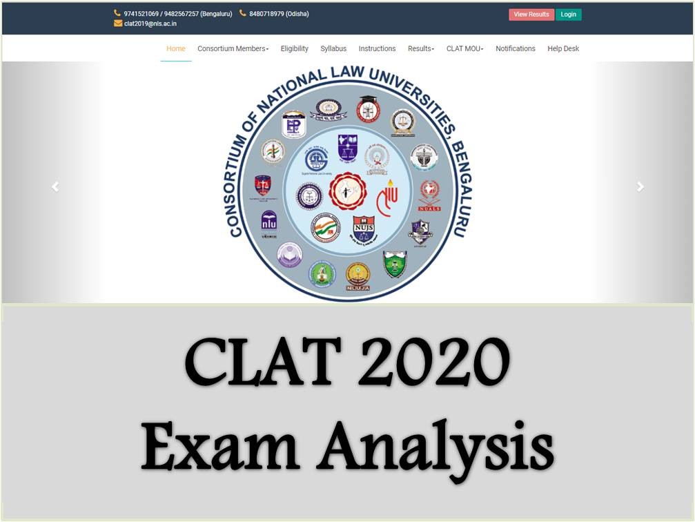 CLAT 2020: Exam Pattern and Sectional Difficult Level Analysis
