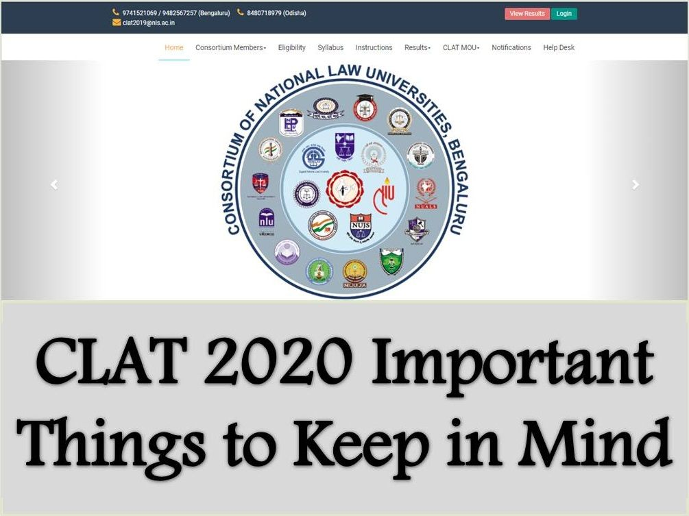 CLAT 2020 – Important Things to Keep in Mind