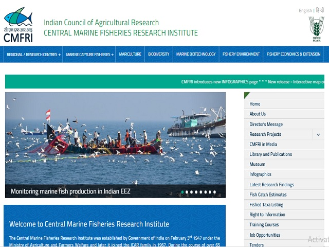 CMFRI Senior Research Fellow and Field Assistant Posts 2020